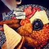 典型的なイギリス朝ご飯!お腹いっぱい