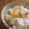 鮭と銀杏の炊き込みご飯
