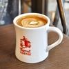 築地の「Turret Coffee」でトールラテ。