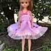 ピンクのキラキラハートのドレス
