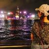 【香港】【ビクトリアハーバー】香港ディズニーランドの後は夜のビクトリアハーバーへ行ったよ!