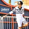 星柄・オルテガ柄・国旗柄スウェットセットアップ JOKER by EverGreen/ジョーカー