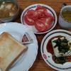 パンと豆腐と玉子の味噌汁