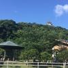 青空と緑に館山城が映えてます!!