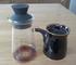 【白山陶器】G型醤油さしは液だれしたので、iwakiドレッシングボトルで代用