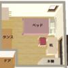 子供部屋の家具配置
