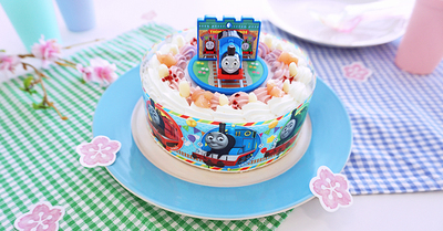 春のお祝い & こどもの日に!トーマスのキャラデコお祝いケーキをご自宅にお届け!!