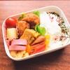 【お弁当】唐揚げ簡単弁当&セロリのピクルス入り