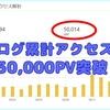 ブログアクセス累計50,000PVを突破することができました。