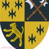 虎の紋章、四分割。