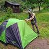 雨のキャンプが超大変だけどワークマンのおかげでなんとかなった