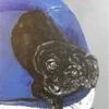 黒いトイプードルの似顔絵描いてみた!!