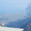 別府市内を見下ろし九重山系を見上げる:大分県別府市