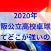 2020強い公立高校男子卓球部ランキング大阪版