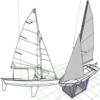 ヨット(ディンギー)スナイプ級 ペーパークラフト