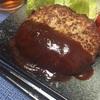 ケチャップソースのハンバーグ