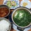 水菜の湯豆腐と赤だし