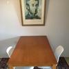 【DIY】【テーブルすっきり】セリアのアイアンラックをテーブルの下に2本取り付けて箱ティッシュと手紙を隠しました【セルフリノベーション】