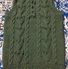 【編み物ワードローブ】三國万里子さんのヘンリーネックのベストを編みました(三枚目)