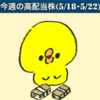 今週の高配当株(5/18-5/22)