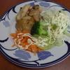 幸運な病のレシピ( 804 )昼:豚バラブロック・鳥ムネ・ジャガイモのソテー、レストランポイポイ
