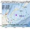 2017年10月04日 22時05分 国後島付近でM3.4の地震