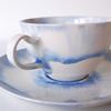 ブルーの濃淡が美しいカップ&ソーサー|藤内紗恵子