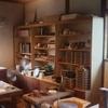 作業場の棚を作っています。