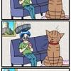 『ほら、ここにも猫』・第245話「くしゃみとタライ」