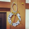 指編みで作るクリスマスリース