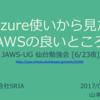 JAWS-UG仙台で「Azure使いから見たAWSの良いところ」を発表しました