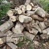 薪割り 落ちかけて Chopping firewood