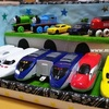 手作りおもちゃ:ダンボールでプラレール車庫収納