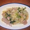 春キャベツと鶏ひき肉の甘辛味噌炒め ヘルシオホットクックで自炊(100)
