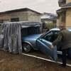 愛車を雨や汚れから守ります アコーディオンガレージ
