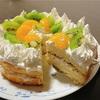 タピオカココナッツミルクケーキ。市販のスポンジケーキで作ります。