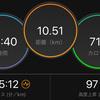 ジョギング10.51km・2ヶ月ぶりの2日連続ラン、2ヶ月ぶりの10km走