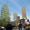 秋田竿燈まつり2013、昼竿燈