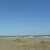 台風後の砂浜
