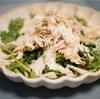 春菊と鶏胸肉のシーザーサラダ