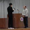 全校朝会 ~離任式・任命式~