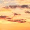 沖縄の海、夕日が美しかった写真。