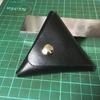 レザークラフトを始めよう「三角形コインケース」☆初心者必見!分かり易く説明しています。