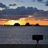 加茂島に沈む夕陽