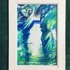 水彩画を描いた✨玉川上水近くの水路の風景