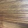 オーダーキッチンの面材はチークの無垢材