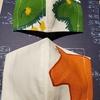 北欧Sweden生地で立体マスク作ってみました(*'▽'*)😷