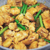 <作り置き>ニンニクの芽と鶏肉のネギダレ炒め