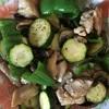 鶏と夏野菜オリーブオイル炒め