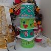 【0円工作】ヨーグルトの空容器で作る簡単クリスマスツリー。今年は親子の作品を飾ろう